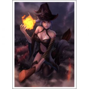 60 Trading Card Sleeves Featuring Mischievous Witch Lilibeth