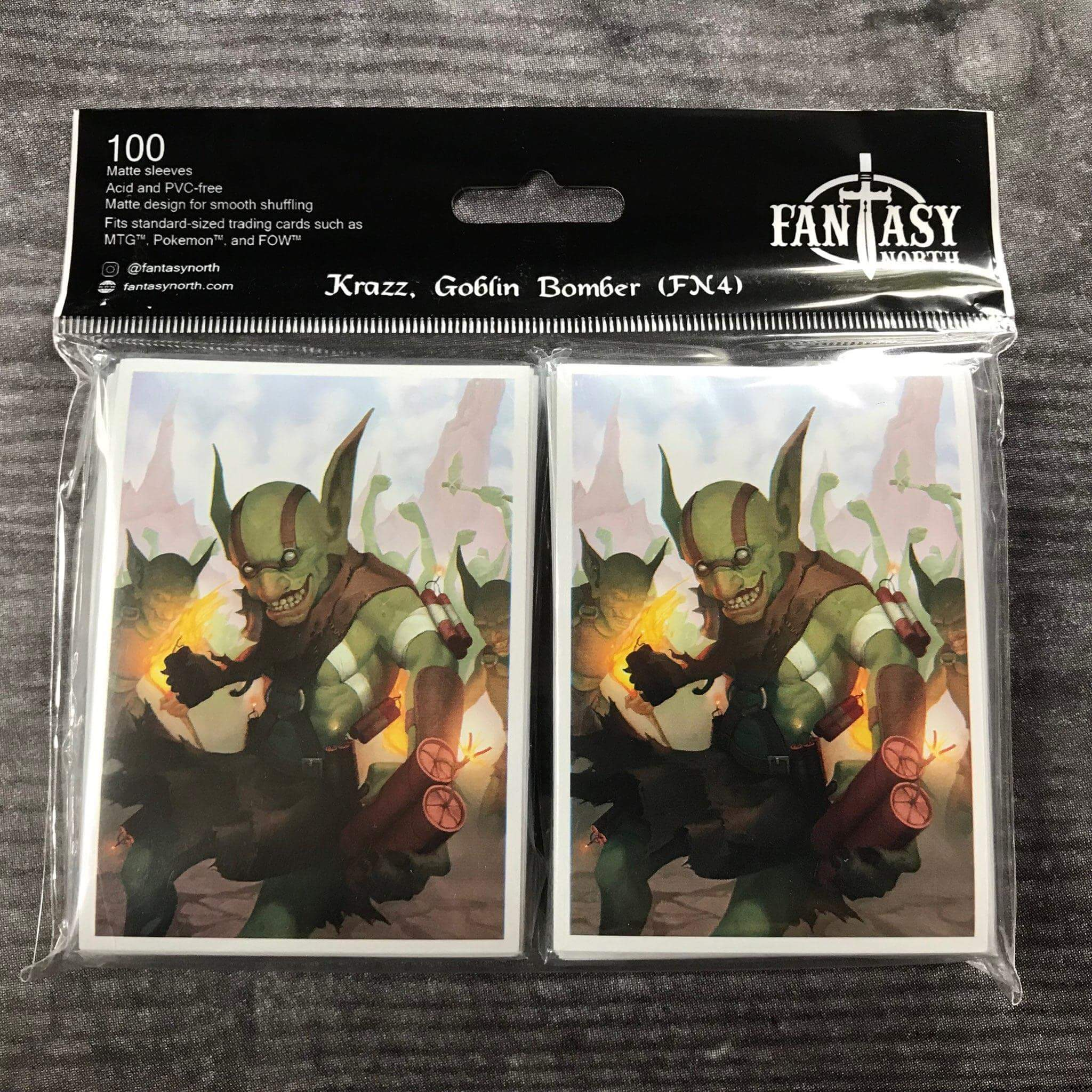 60 Matte Card Sleeves Raven Necromancer Dark Magic Zombie Design MTG